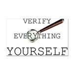 Verify Everything Yourself Rectangle Car Magne