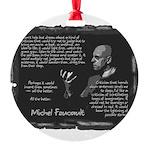 Foucault-Criticism-Posters Round Ornament