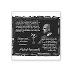 Foucault-Criticism-Posters Square Sticker 3