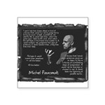 Foucault-Criticism-Posters Square Sticker 3