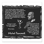 Foucault-Criticism-Posters Square Car Magnet 3