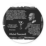 Foucault-Criticism-Posters Round Car Magnet