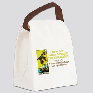The Fool Satisfied Canvas Lunch Bag