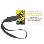 The Fool Satisfied Large Luggage Tag