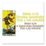 The Fool Satisfied Square Car Magnet 3