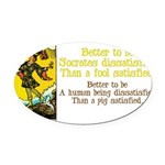 The Fool Satisfied Oval Car Magnet