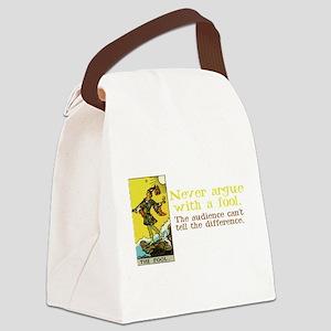 The Fool Argues Black-T Canvas Lunch Bag