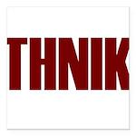 Thnik Square Car Magnet 3