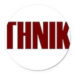 Thnik Round Car Magnet
