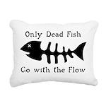 Only Dead Fish Rectangular Canvas Pillow