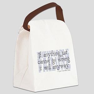 Murphys Third Law Canvas Lunch Bag