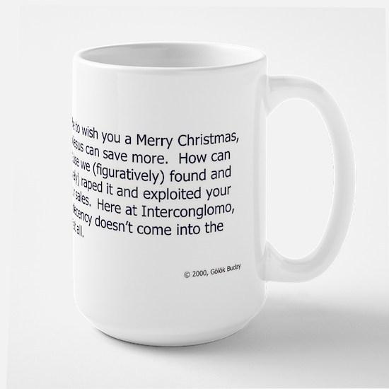 Merry Busimass Large Mug