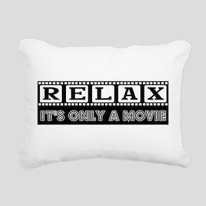 RELAX in black Rectangular Canvas Pillow