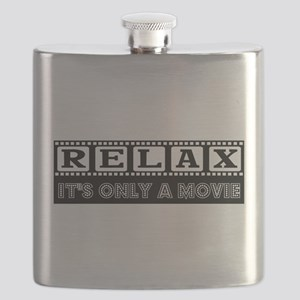 RELAX in black Flask