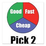 Good Fast Cheap Square Car Magnet 3