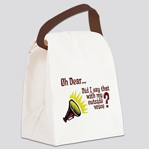 Outside Voice Canvas Lunch Bag