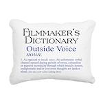 3-Outside Voice Rectangular Canvas Pillow