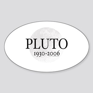 Goodbye Pluto Oval Sticker