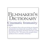 Cinematic Immunity Square Sticker 3