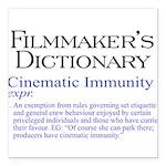 Cinematic Immunity Square Car Magnet 3