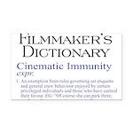 Cinematic Immunity Rectangle Car Magnet