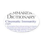 Cinematic Immunity Oval Car Magnet