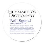 Roll Sound Round Car Magnet