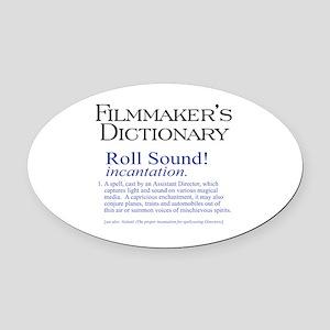 Roll Sound Oval Car Magnet