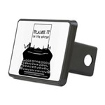 blame it typewriter II Rectangular Hitch Cover