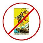 No Fool Round Car Magnet