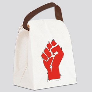 AnarchyFist Cutout Canvas Lunch Bag