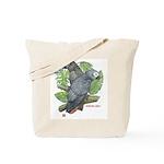 Tropical African Greys Tote Bag