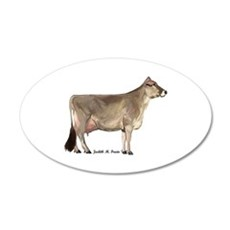 Brown Swiss Cow Wall Decal