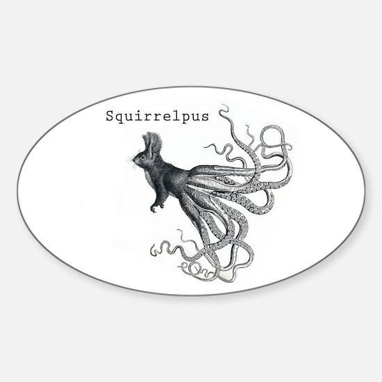 Squirrelpus Sticker (Oval)