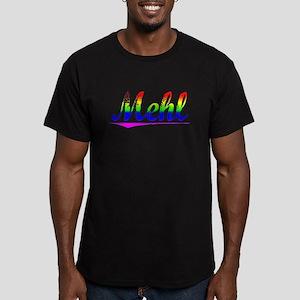 Mehl, Rainbow, Men's Fitted T-Shirt (dark)