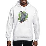 Tropical African Greys Hooded Sweatshirt