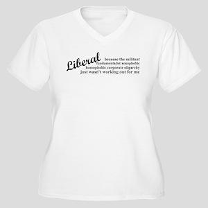 Why I'm Liberal Women's Plus Size V-Neck T-Shirt