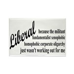 Why I'm Liberal Rectangle Magnet (10 pack)