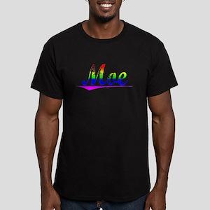 Moe, Rainbow, Men's Fitted T-Shirt (dark)