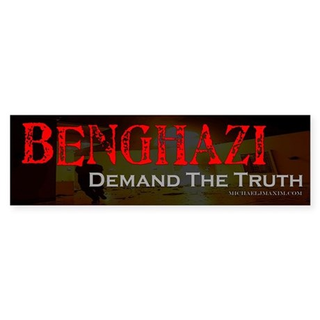 Benghazi Demand Truth Sticker (Bumper)