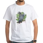 Tropical African Greys White T-Shirt