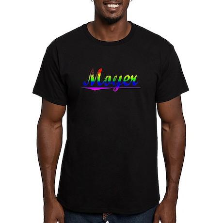 Moyer, Rainbow, Men's Fitted T-Shirt (dark)