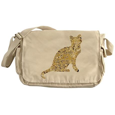 Messenger Bag Golden Cat Style