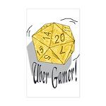 Uber Gamer! Rectangle Sticker