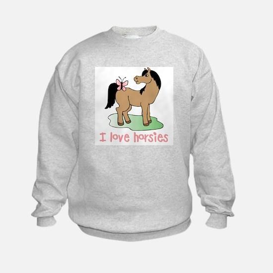 Cute horse lover girls Sweatshirt