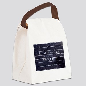 Street Wisdom: Legalize Chalk Canvas Lunch Bag