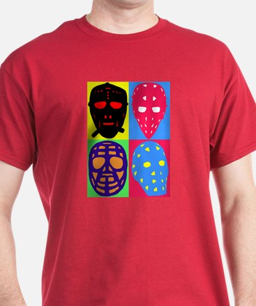 Vintage Hockey Goalie Masks T-Shirt