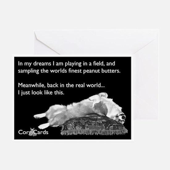 Corgi Peanut Butter Dream Greeting Card