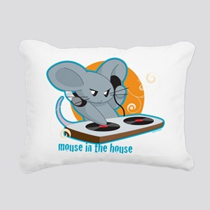 Mouse in the House Rectangular Canvas Pillow