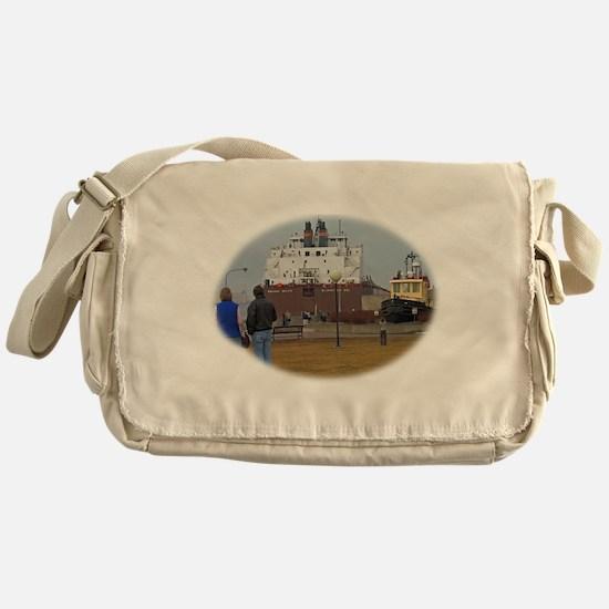 Mesabi Miner arriving Duluth Messenger Bag